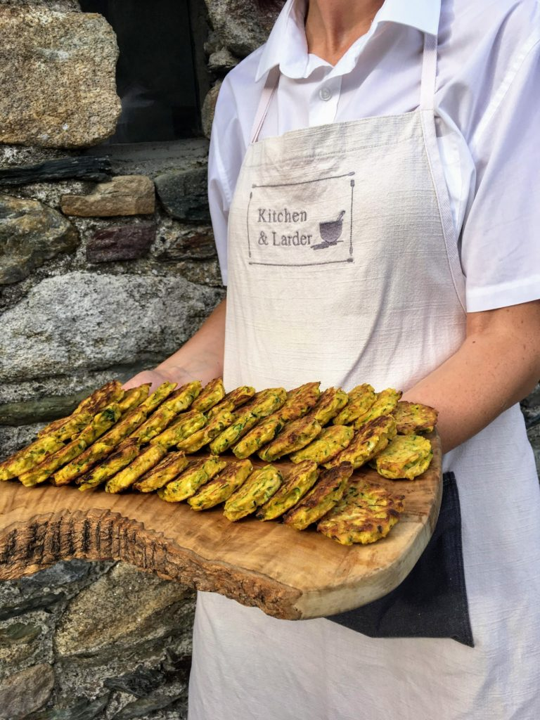 Courgette fritter canapés